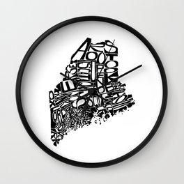 Typographic Maine Wall Clock