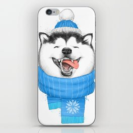 happy husky iPhone Skin