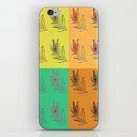 popart iPhone & iPod Skins featuring Feathers PopART by UnifiedGlory