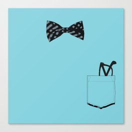 Bow tie and pocket Canvas Print