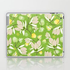 Magnolia Blossom Greenery Laptop & iPad Skin