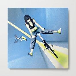 Happy Joyride (blue yellow) Metal Print