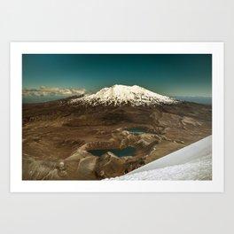 Views from Mount Ngauruhoe Art Print