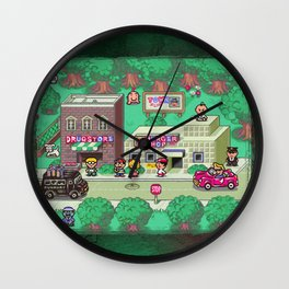 Earthbound town Wall Clock