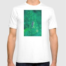 Wildflower 1 SMALL Mens Fitted Tee White