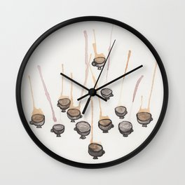 Tea and Ink Wall Clock