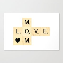 MOM - Mother's Day Scrabble Art Canvas Print