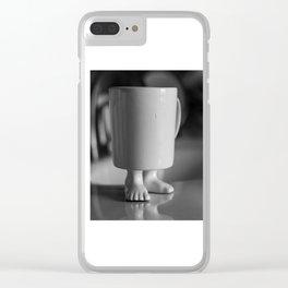 mug with feet Clear iPhone Case