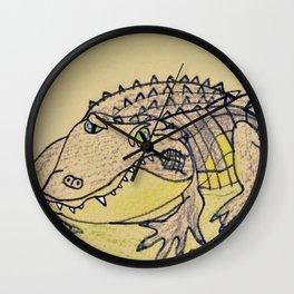 Grumpy Gator Wall Clock