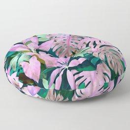 Tropical Night Magenta & Emerald Jungle Floor Pillow