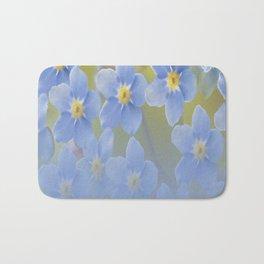 Forget-me-not flowers - summer beauty #society6 #buyart Bath Mat
