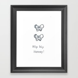 Hip Hip Hooray Framed Art Print
