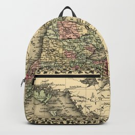 Map Of Ontario 1874 Backpack