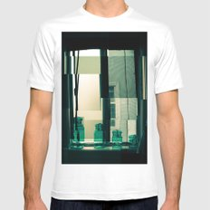 Window Cubism. Mens Fitted Tee White MEDIUM