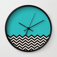 clear Wall Clocks featuring Follow the Sky by Bianca Green
