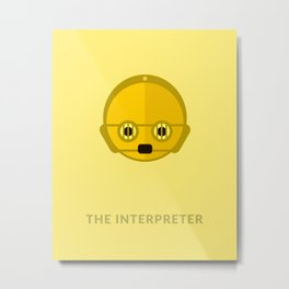 SW C-3PO The Interpreter Metal Print