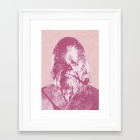 chewbacca Framed Art Prints featuring Chewbacca by NJ-Illustrations