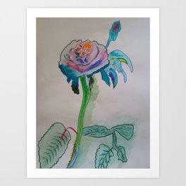 Flower inspiration modern paintings by Christian T. Art Print