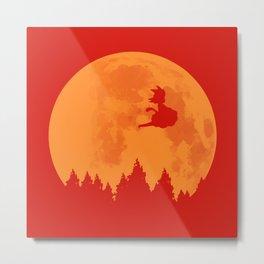 The Moon on Dragon Ball - Orange Metal Print