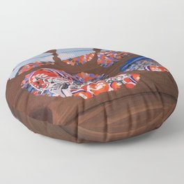Clemson Tiger Paw Floor Pillow