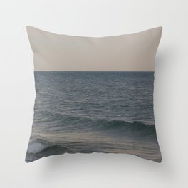 Breakers // Lake Michigan Waves Photography Throw Pillow