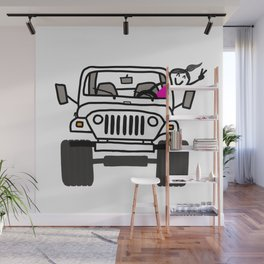 Jeep Wave White - Girl Wall Mural