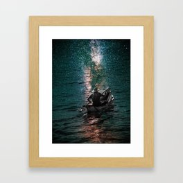 Fishing Stars Framed Art Print