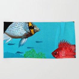 Butterfly & Bigeye fishes Beach Towel