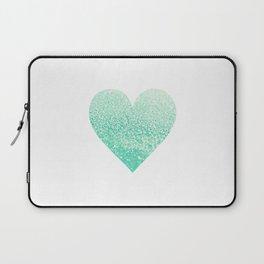 SEAFOAM HEART Laptop Sleeve