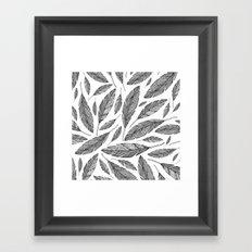 Float Like A Feather - White Framed Art Print
