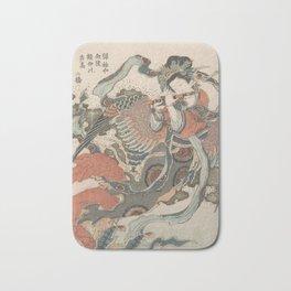Mystical Bird (Karyōbinga) - Hokusai Bath Mat