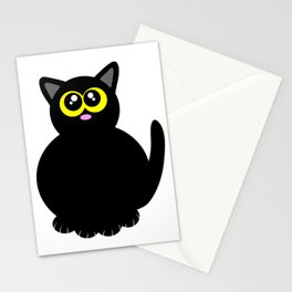 Black kitty Stationery Cards