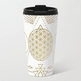 Golden Goddess Mandala Travel Mug