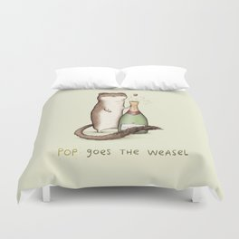 Pop Goes the Weasel Duvet Cover