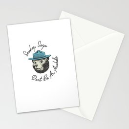 Smokey Says | Dont Be An Asshole Stationery Cards