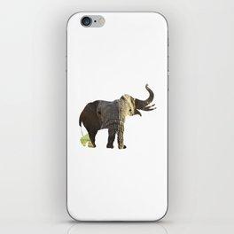 Elephant Cutout 2 iPhone Skin