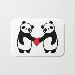 Panda Love  panda bear in love Bath Mat