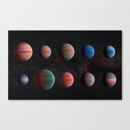 Planets : Hot Jupiter Exoplanets Canvas Print