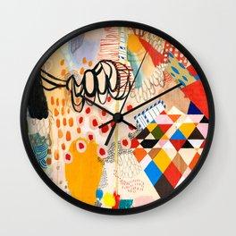 Wallpaper and Diamonds Part II Wall Clock