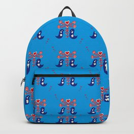 Love birds blue Backpack