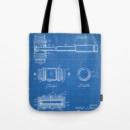 Judge Gavel Patent - Lawyer Art - Blueprint Tote Bag