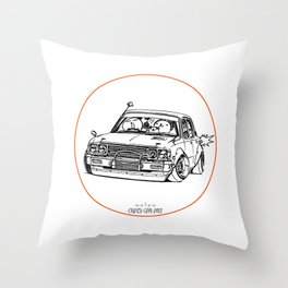 Crazy Car Art 0224 Throw Pillow
