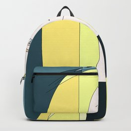 Euphoria Jaune Blonde Woman Hair Abstract Portrait Backpack