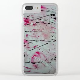 Pink Carnival Clear iPhone Case