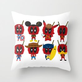 PURE DEAD POOL Throw Pillow