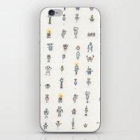 robots iPhone & iPod Skins featuring robots by Julia Heffernan
