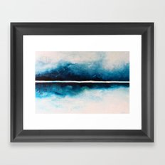 Blue Waves Framed Art Print