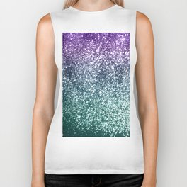 Aqua Purple Ombre Glitter #4 #decor #art #society6 Biker Tank
