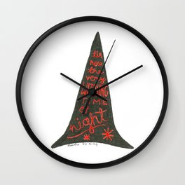 Witching the time of night Wall Clock
