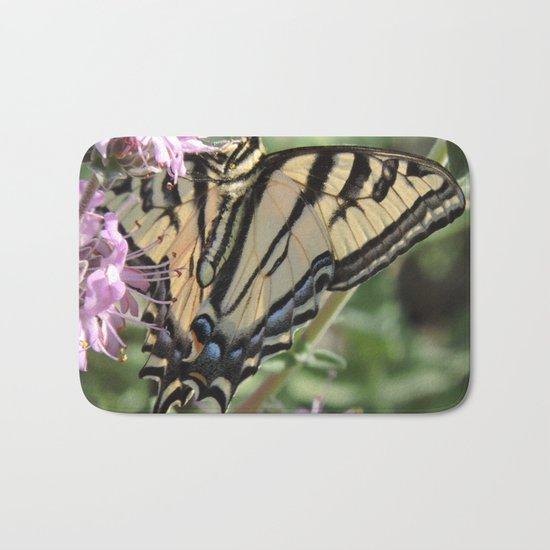 Western Tiger Swallowtail on Lemon Blossoms Bath Mat